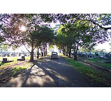 Old 1950s VW Beetle at Cemetery Photographic Print