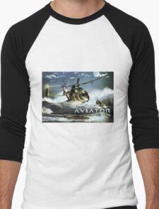 EH-101 Merlin Helicopter Men's Baseball ¾ T-Shirt