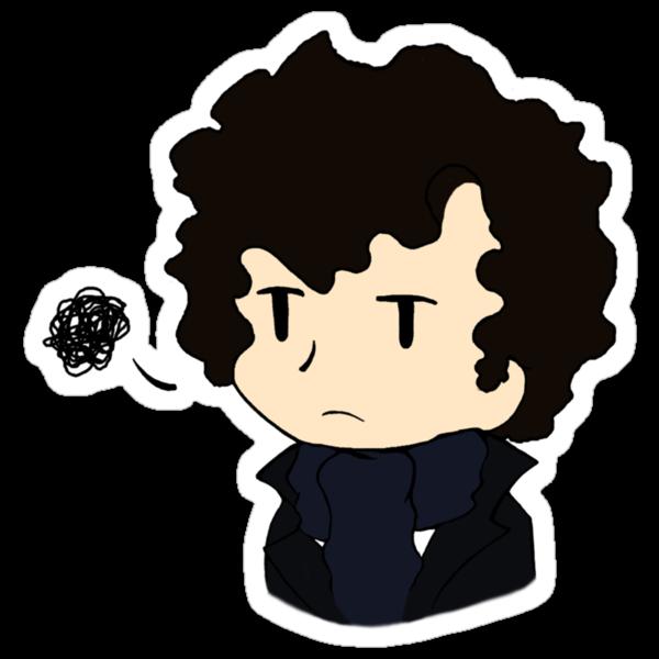 Annoyed Chibi!Sherlock by imbusymycroft