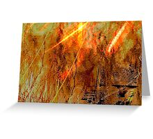 Abstract Inferno .. Greeting Card