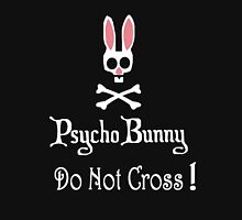 Watch out! Psycho Bunny Inside! Do Not Cross! Womens Fitted T-Shirt