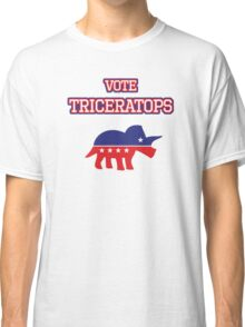Vote Triceratops Classic T-Shirt