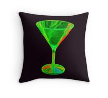 Beautiful green cocktail glass Throw Pillow