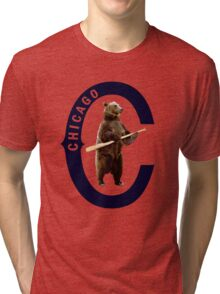 Bear with Bat Tri-blend T-Shirt
