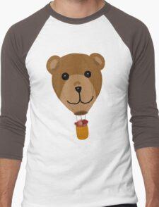 Teddy Bear Hot Air Balloon Men's Baseball ¾ T-Shirt