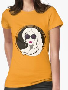 Woman fashion with sunglasses Womens Fitted T-Shirt