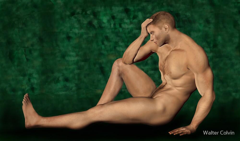 Male Artistic Nude by Walter Colvin