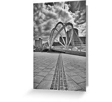 Pedestrian Bridge, South Wharf Greeting Card