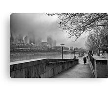Melbourne Winter, Southbank Canvas Print