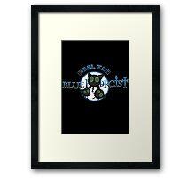 Coal Tar Blue Exorcist Framed Print