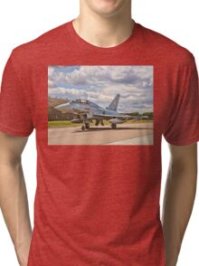 Eurofighter Typhoon T.3 ZJ805/BD Taxying Tri-blend T-Shirt