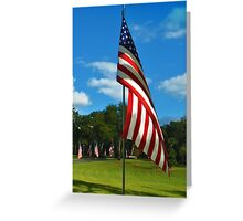 The Red, White and Blue Greeting Card