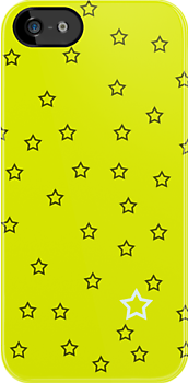 Stars with a Single White v6 - Lemon Yellow by HighDesign