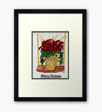 Merry Christmas, Redbubble Community Framed Print