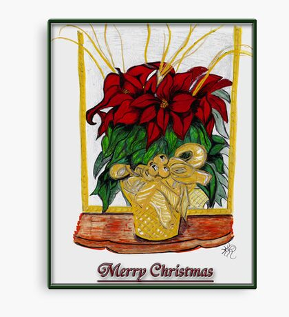 Merry Christmas, Redbubble Community Canvas Print
