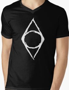 Thieves Guild Shadowmark (white) Mens V-Neck T-Shirt