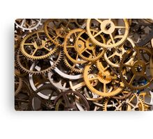 Mix of various gears, abstract technology background Canvas Print