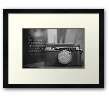 Camera Henri Cartier-Bresson Framed Print