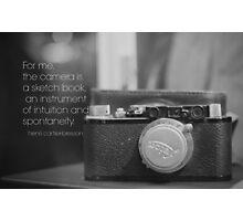 Camera Henri Cartier-Bresson Photographic Print