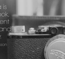 Camera Henri Cartier-Bresson Sticker