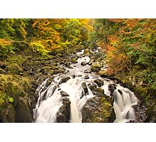 Black Linn Waterfall,River Braan Photographic Print