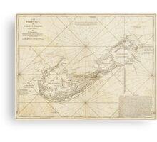 Vintage Map of Bermuda (1788) Metal Print