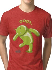 Android Oops Tri-blend T-Shirt