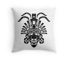 Mayan Mask Throw Pillow