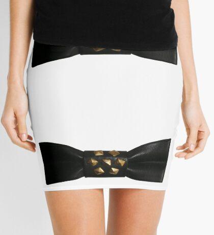 Leather Bow Mini Skirt