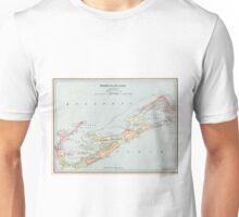 Vintage Map of Bermuda (1901) Unisex T-Shirt