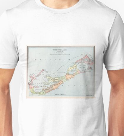 Vintage Map of Bermuda (1901) Unisex T-Shirt