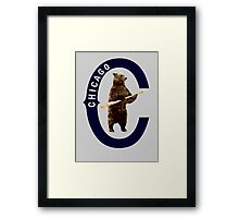 Bear with Bat - Polygonal Framed Print