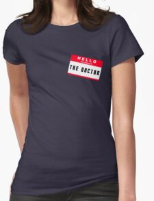 Hello, I'm The Doctor Womens Fitted T-Shirt