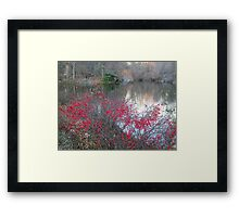 Wild Red Berries Framed Print