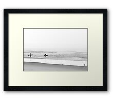 Surfing Birds Framed Print