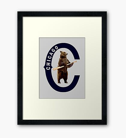 Bear with Bat Framed Print