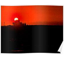Red Sun St.Kilda Poster