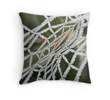 Frosty Web Throw Pillow