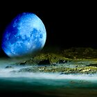 Blue Coastal Moon by Gavin Lardner