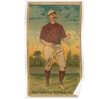 Benjamin K Edwards Collection Mike Dorgan New York Giants baseball card portrait Poster