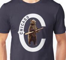 Bear with Bat-White Logo Unisex T-Shirt