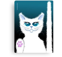SNOWBELL THE CAT Canvas Print