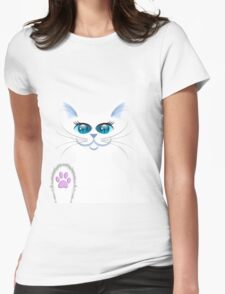 SNOWBELL THE CAT Womens Fitted T-Shirt