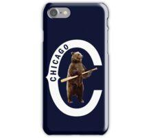 Bear with Bat-White Logo iPhone Case/Skin