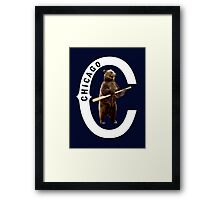 Bear with Bat-White Logo Framed Print