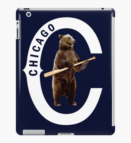 Bear with Bat-White Logo iPad Case/Skin