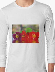 Three Nasturtiums Long Sleeve T-Shirt