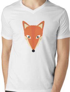Cute Fox Mens V-Neck T-Shirt