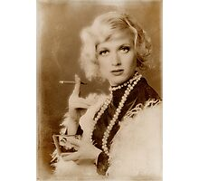A girl with a cigarette Photographic Print