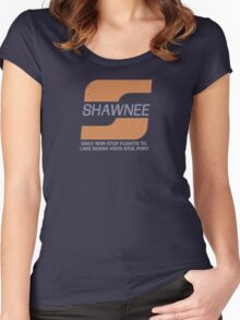 Shawnee Airlines - STOL Port Women's Fitted Scoop T-Shirt